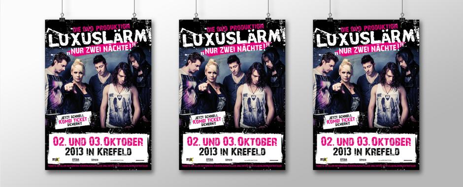 Luxuslaerm nur zwei naechte tour plakat_1